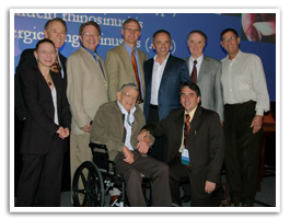 Dr Caplanis with group at American Academy of Implant Dentistry's Annual Meeting in 2009